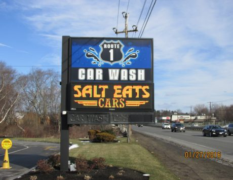 Rt. 1 Car Wash Pylon Sign